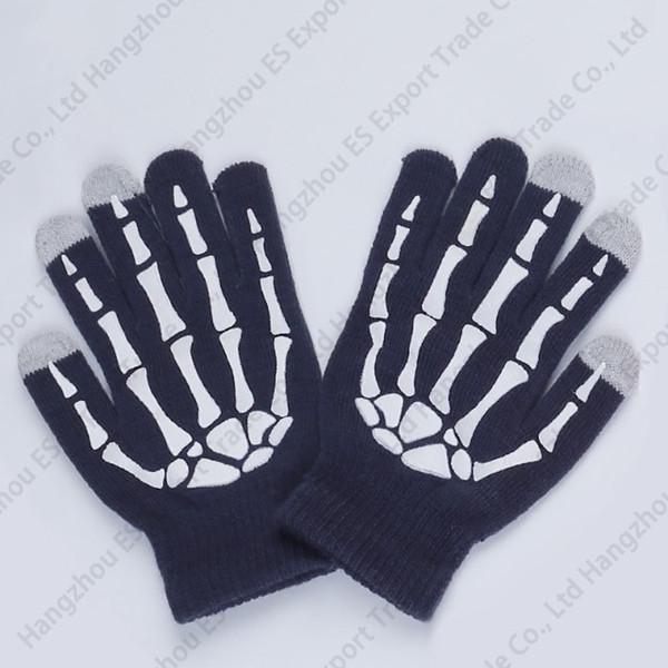 Pure Colours Hand Bone Fingers Guanti Touch Screen Guanti Fashionable Winter Anti-freeze Uomo E Donna 6 Colori Warm Guanti