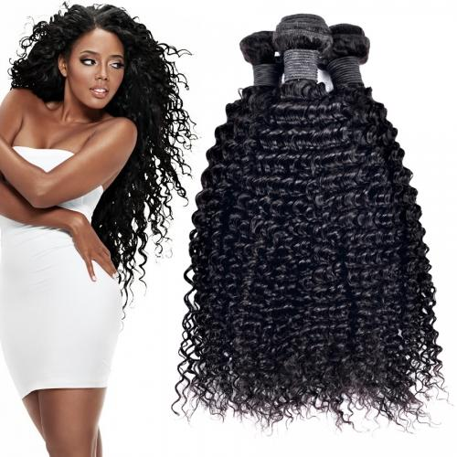 Indian Kinky Curly Hair Weave Unprocessed 6A Natural Color Hair Extension 8-30inch Bundles 3pcs/lot Free Shipping