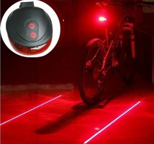 5 LED Rear Bike Bicycle Tail Light Beam Safety Warning Red Lamp US 2 Laser