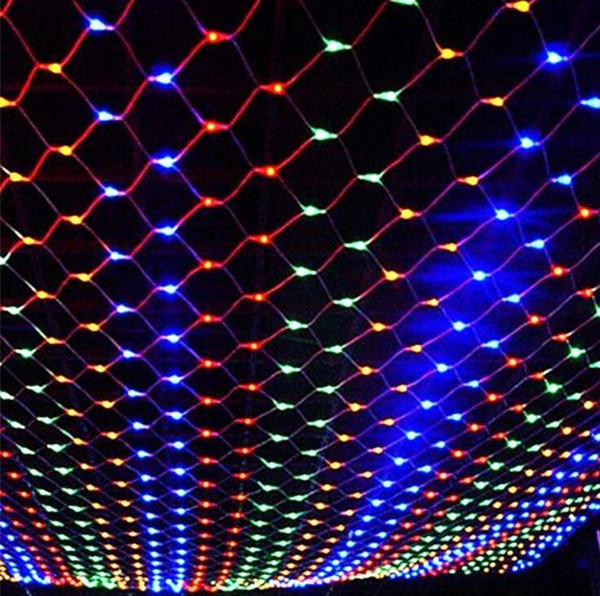Wedding curtain 1.5m*1.5m 96 led Lamps net Fairy Christmas Home Garden decoraitons 110V 220V Super Bright Net free shipping WQ23