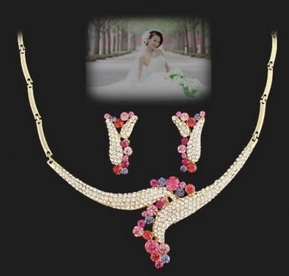 wonderful diamond crystal wedding set necklace earings (spwhy) wsfdw