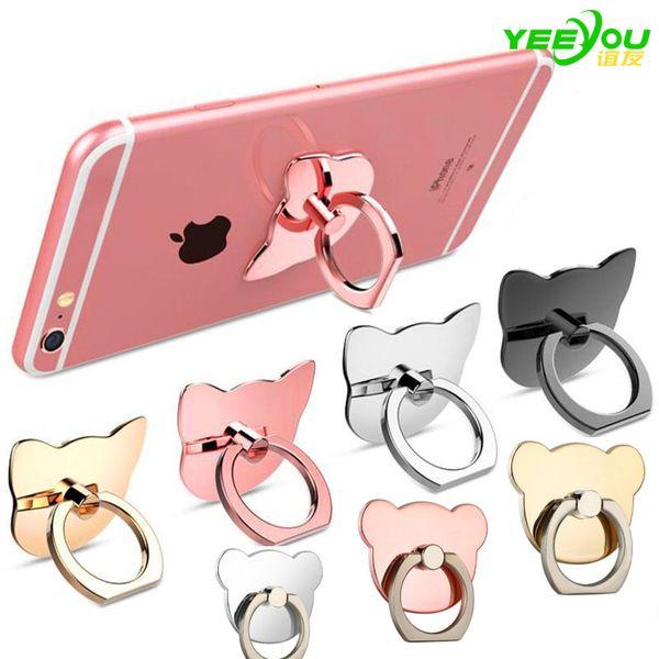 best selling Finger Ring Mobile Phone Ring Holder Bracket Lazy Ring Buckle Mobile Phone Bracket 360 Degree Stand Holder For all Smart Phone