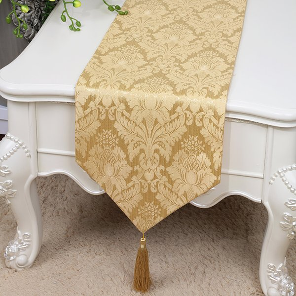 Short Length Cotton Linen Jacquard Table Runner High Quality Dining Table Mats Protective Pads Modern Simple Tea Table Cloth 150x33 Cm 36 Inch Table