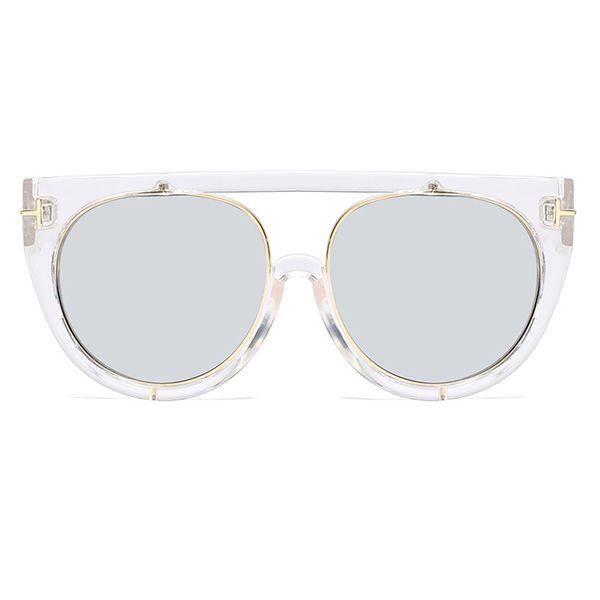 C9 Clear White Frame Silver Mirror