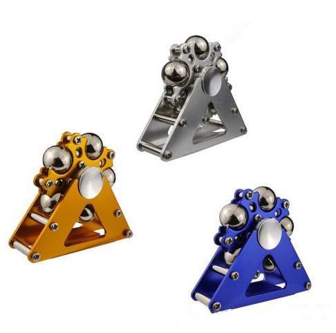 Nueva llegada Metal Ferris Rueda Fidget Spinners Mecanizado Spinner con bolas de acero Aleación de aluminio Mano Spinners Juguete de descompresión