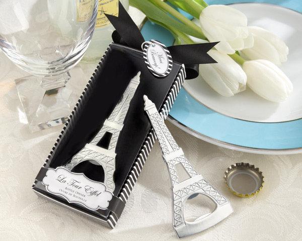 Suministros de boda casados Venta al por mayor Favor de la boda regalo pequeño destornillador destornillador creativo Torre Eiffel / estilo europeo matrimonio regalos