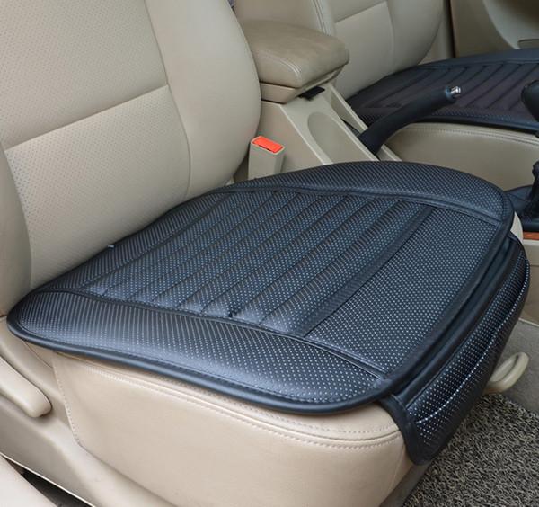 2016 verano de cuero del coche de bambú de carbón de leña Cojines del coche Fundas de asiento de coche Cojín de asiento Monolítico Cojín de seda de hielo Cojines