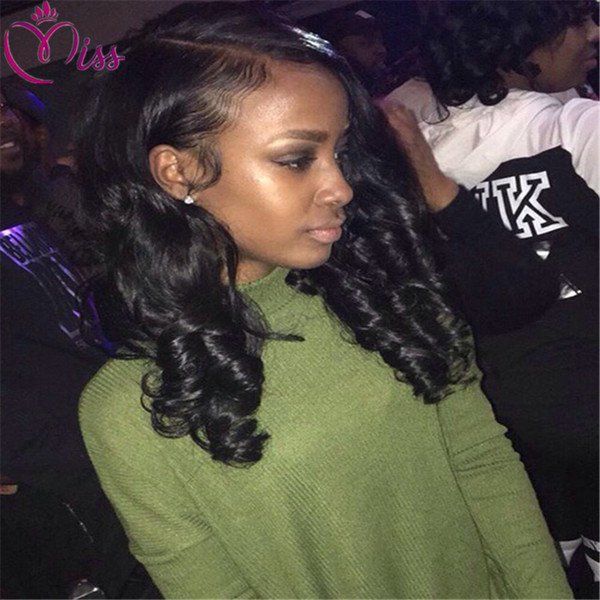 4*4 Silk Top Full Lace Wigs Loose Wavy Middle Part Peruvian Silk Base Lace Front Wigs with Natural Hairline Bleached Knot