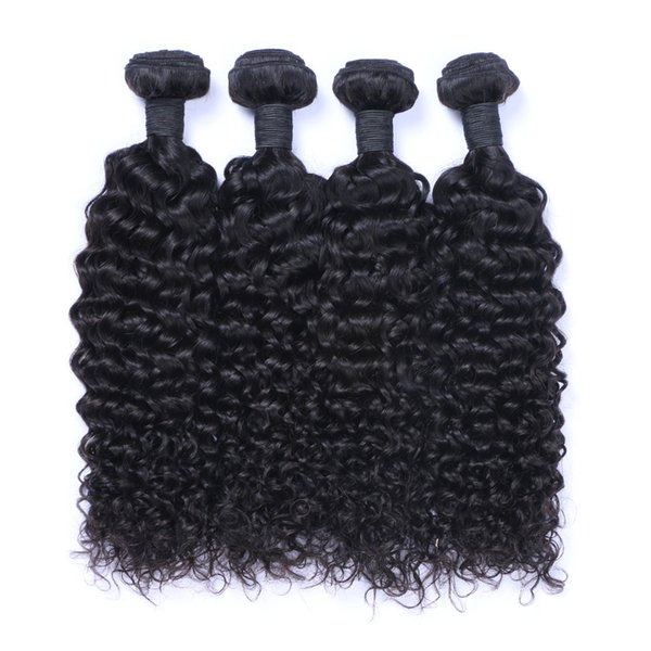 8A High Quality Indian Jerry curl Unprocessed Human Hair Extensions 8-30inch Natural Black Color Soft Full Dyeable 5pcs/lot Free Shipping