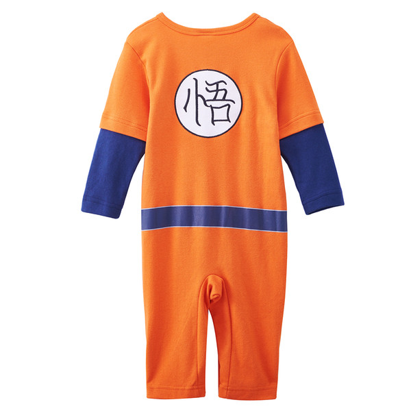 6abb82954b76 2019 Baby Boy Dragon Ball Z Romper Onesie Goku Funny Costume Infant ...
