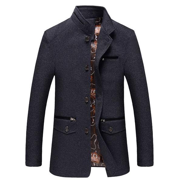 Toptan-Sonbahar Kış Rüzgarlık Erkekler Orta-Uzun Ceket Erkekler babanın Coat Casual Bel Geniş Ceketler Erkekler Trençkot Casaco Masculino FC2401