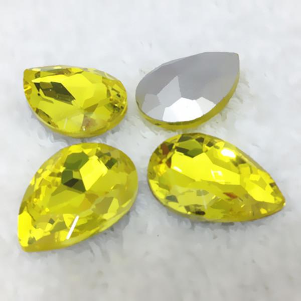 10x14mm 225pcs citrine color