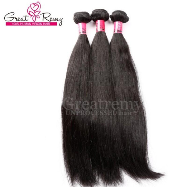 100% Chinese Hair Extension 3pcs/lot Remy Human Hair Extensions Silky Straight Greatremy Drop Shipping Natural Color Queen Hair Products