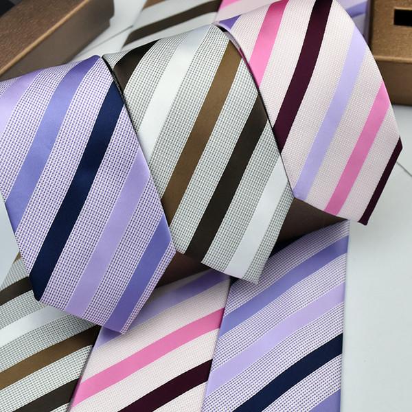 The new men's wedding groom Groomsmen dress striped tie 7CM spot wholesale business