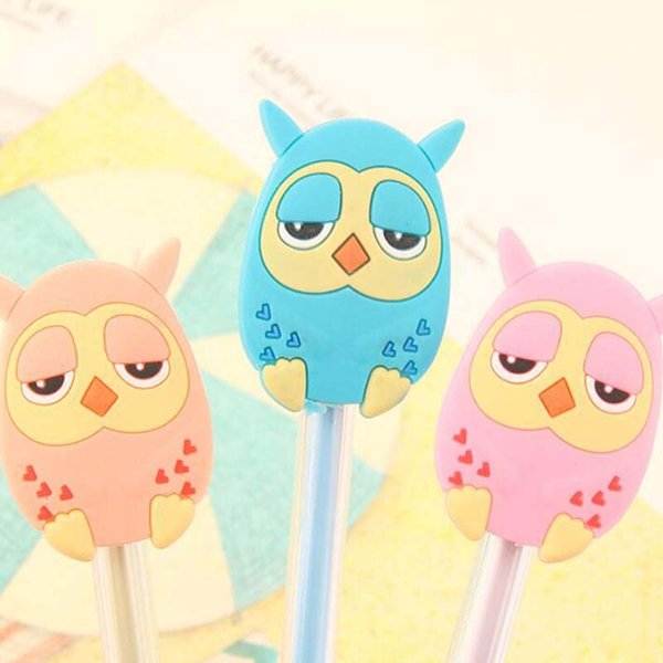 New Fashion 15pcs/lot Cute Cartoon Gel Pen Pens School Supplies Stationery Christmas Novelty Gifts Prize Writting Office Supply