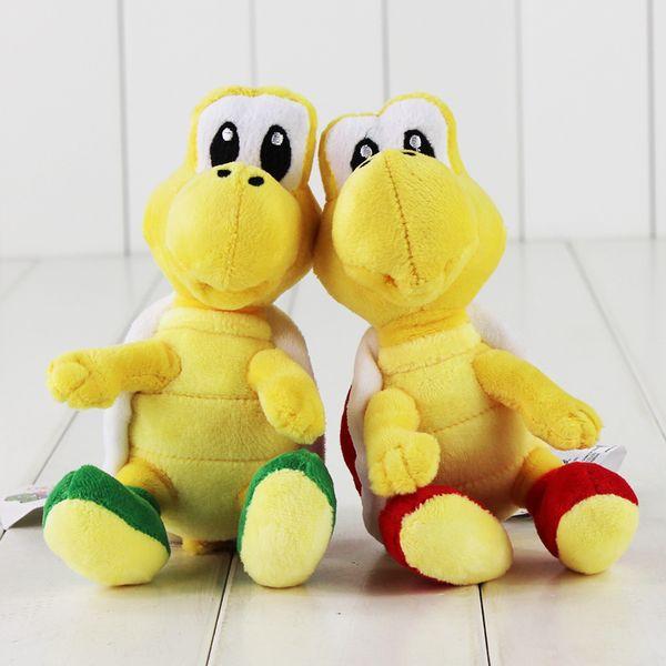 top popular 16cm Super Mario Plush Toy Koopa Troopas Red Green Turtle Tortoise Stuffed Animal Doll for Children 2020
