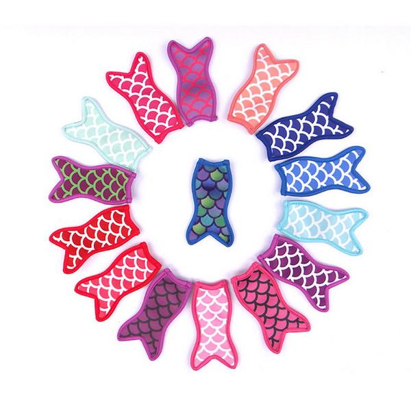 best selling Mermaid printing popsicle holders Ice Popsicle sleeves freezer Pop holders for kids Summer Ice Cream Tools S2017493