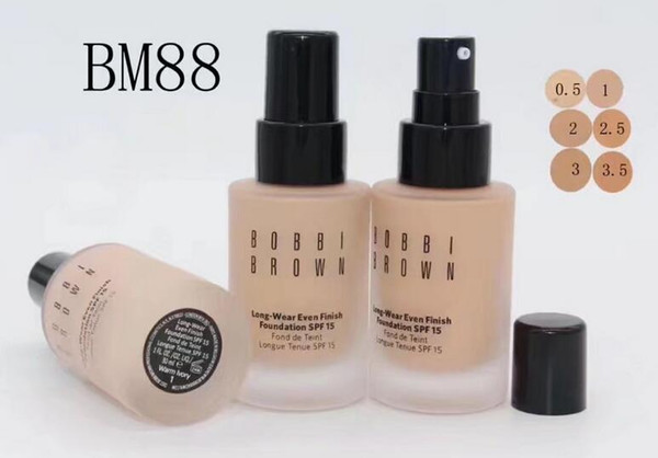 FREE SHIPPING Best selling New Brand Makeup SPF 15 FOUNDATION Liquid 30ml long wear 6pcs/lot