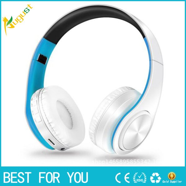 New hot High Quality Bluetooth Headset Stereo Fordable Wireless Headphones Earphone Support SD Card with Mic