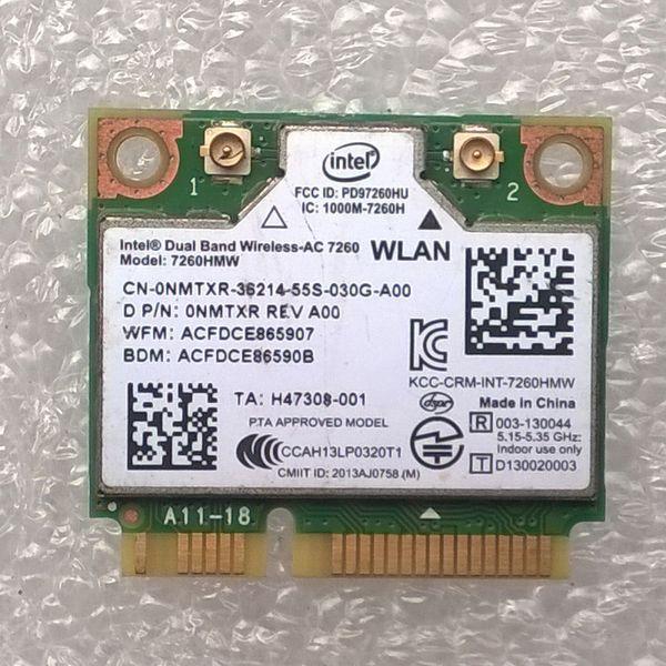 Wholesale- Intel Dual Band Wireless-AC 7260 802.11 ac WiFi & Bluetooth 4.0 Combo WLAN Adapter,CN-0NMTXR