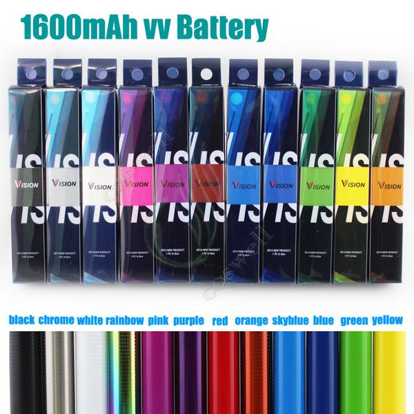 Высочайшее качество Vision Spinner II 2 1650 мАч Ego twist 3.3-4.8V аккумулятор переменного напряжения для электронных сигарет Электронные сигареты VV атомизаторы vape pen