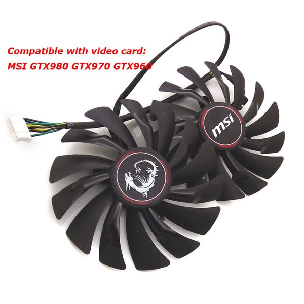 Wholesale- free shipping radiator computer cooler fan cooling MSI GTX980 GTX 970 GAMING video VGA Graphics Card