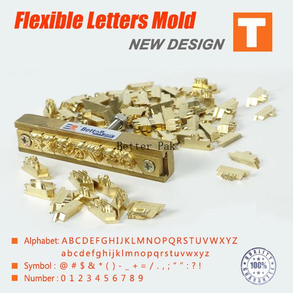 T-Typ flexible Buchstaben, CNC-Gravur-Form, Heißfolienprägemaschine, Nummer, Alphabet, Symbol Anpassung Schriftart, Charakter Schimmel