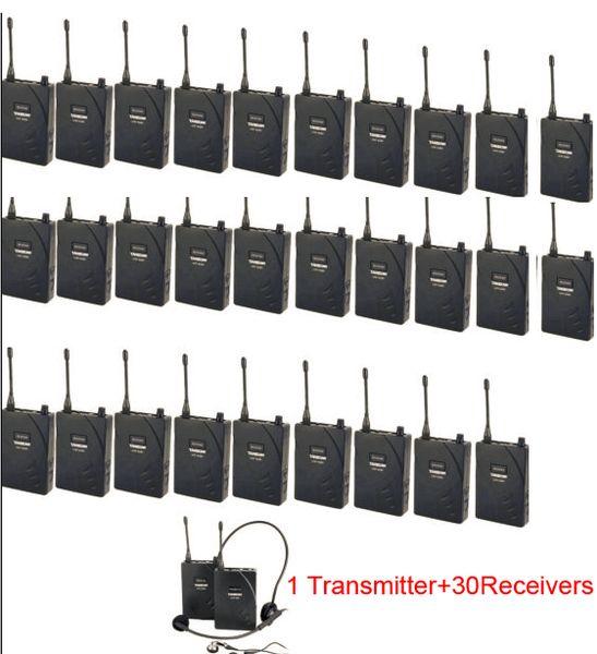 2016 Takstar UHF-938 Wireless Teaching Training Visit Tourism Tour Guide System Church gatherings 1 Transmitter 30 Receivers