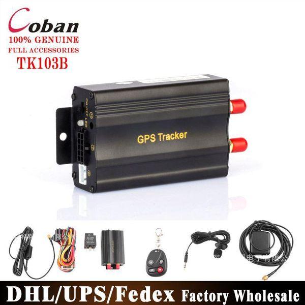 DHL Fedex 10 unids / lote Original Car SMS GPRS GPS Tracker TK103B Dispositivo de seguimiento en tiempo real Syatem Remote