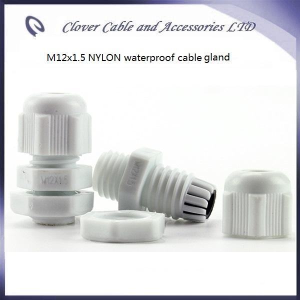 Hot Sale 100PCS/Lot IP68 Waterproof Nylon M12x1.5 Cable Joint Cable Connector