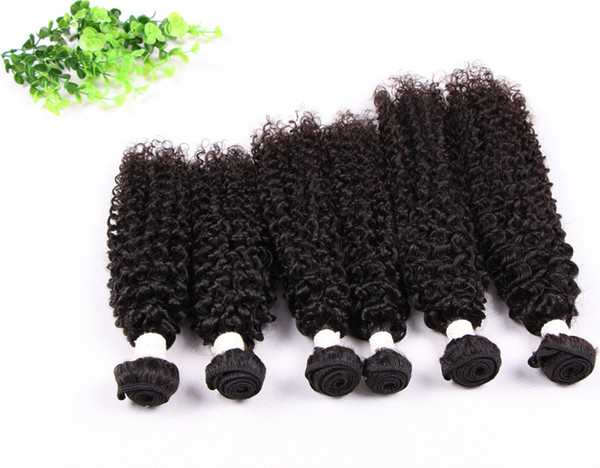 Grade 5A--Jerry curly hair bundle 100% Human Virgin Indian hair Free tangle&shedding,100g/Pc&natural color, free dhl