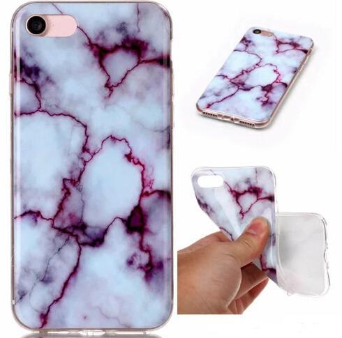 2017 Fashion Stone Marble Rock Grain Custodia rigida TPU IMD per Galaxy S8 / Edge / S7 / Edge / S6 / Grand Prime G530 / J5 / 7/3 J310 / 510/710 / S5 Gel Covers Skin