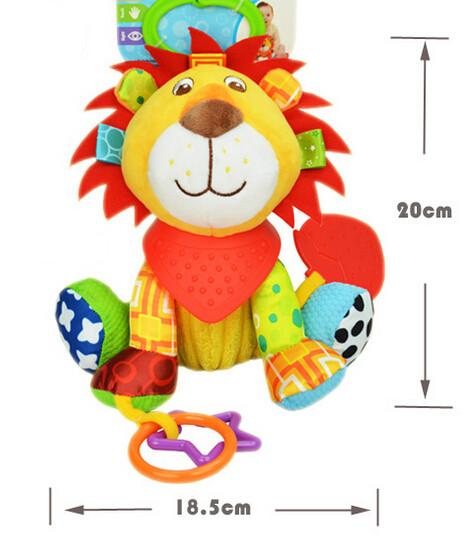 5pcs Baby Toys Hanging Cot Soft Sheep Rattle Lathe Rock Teether Sound Paper Plush Toy For Newborn Babies