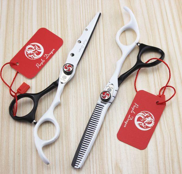 515# 6'' Brand Purple Dragon Best Hairdressing Scissors 440C Barber's Home Salon Cutting Scissors Thinning Shears Hair Scissors