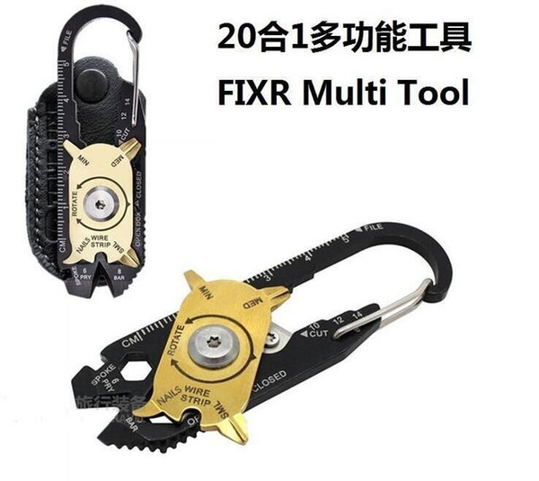 best selling hOT SALE 20 in 1 Creative roulette multi-function combination tool stainless steel spanner screwdriver outdoor portable gadgets DHL 100pcs