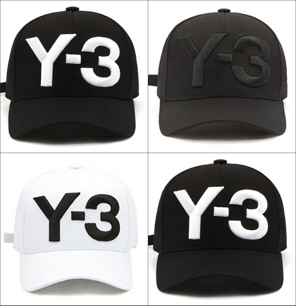 Hot Sale 2017 new Y-3 Dad Hat Big Bold Embroidered Logo Baseball Caps Adjustable Strapback Hats Y3 bone Snapback sport Casquette visor gorra