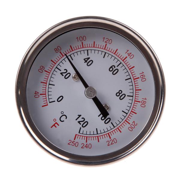 Calibro del termometro analogico dell'acciaio inossidabile per la griglia del barbecue Bilancia a doppia scala Sonda di lettura istantanea Cibo che cucina nuovo calibro di carne
