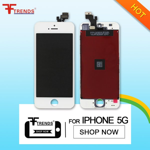 for iPhone 5 LCD Display & Touch Screen Digitizer Full Assembly with Earpiece Anti-dust Mesh Installed + Free Repair Tools Free Shipping