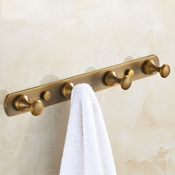 best selling free shipping metal robe hook European antique brass coat hook House Ornamentation door hook bathroom kitchen pendant hardware