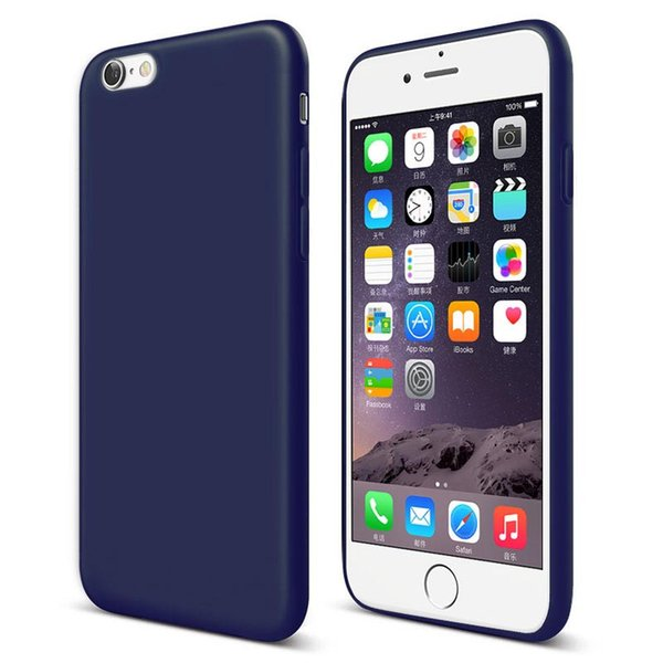 iPhone 7 Case Ultra Thin Shockproof Bumper Case For iPhone 6 6s plus Colorful Soft Matte Silicone Case for iPhone 5 5s SE 13M-SW