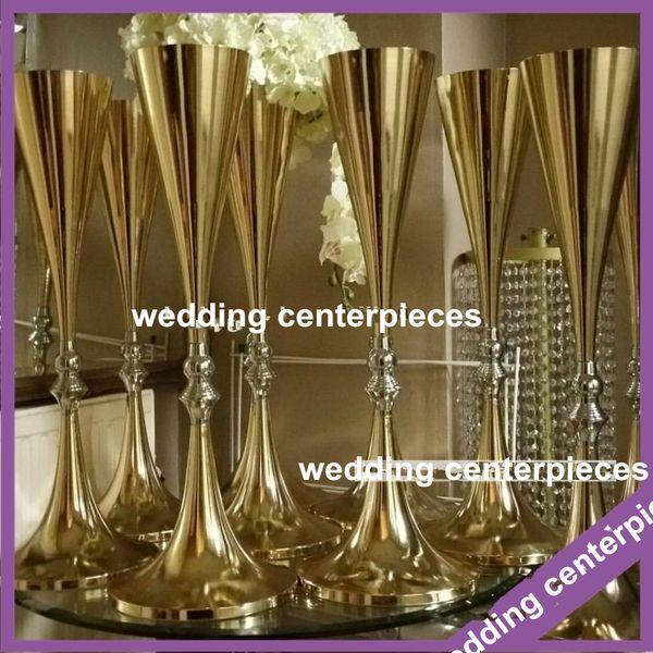 não incluindo flor) melhor venda de candelabros de ouro de casamento de 70 cm à venda