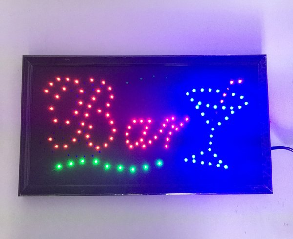 20PCS/Lot wholesale price free shipping 19''x10''x0.5''Animated Motion LED Business Bar Sign Light On/Off Switch Open Bright Light Neon