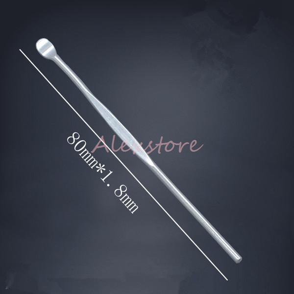 Wax dabber tools atomizer tank stainless steel 80mm dab jar smoking tool for dry herb titanium nail for vape vaporizer pen DHL