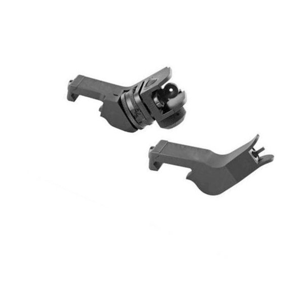 Tactical RTS AR15 M6 Front and Rear 45 Degree Rapid Transition Iron Rear Sight Scope Mount Black ht404