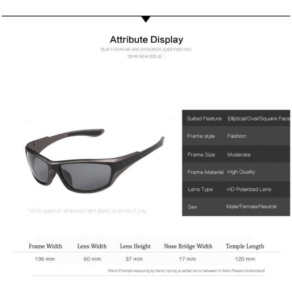 2016 New Fashion Polarized Sunglasses Men/Women Brand Designer Outdoor Sporting Sun Glasses Eyewear Rubber Legs Oculos De Sol