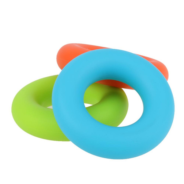 top popular 20KG 7cm Strength Hand Grip Muscle Power Rubber Ring Easy Carrier Hand Grips Fitness Rubber Ring Exerciser Expander Gripper 2019