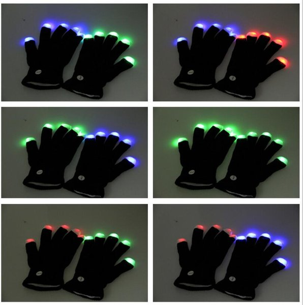 flashing magic Gloves LED knitted glove party Concert rave gloves Christmas Halloween Decoration Novelty child glowing gift