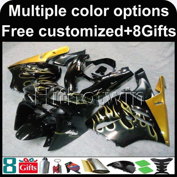 23colors + 8Gifts Gold Kit Motorhaube für Kawasaki ZX9R 1994-1997 ZX9R 94 95 96 97 ABS Verkleidung