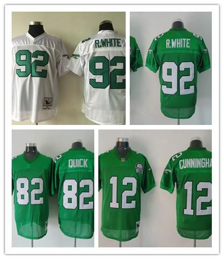 separation shoes 18387 36692 Online Cheap Wholesale Eagles #82 Mike Quick #12 Randall Cunningham #92  Reggie White Throwback Men Football Jerseys Replica M XXXL Welcome By ...