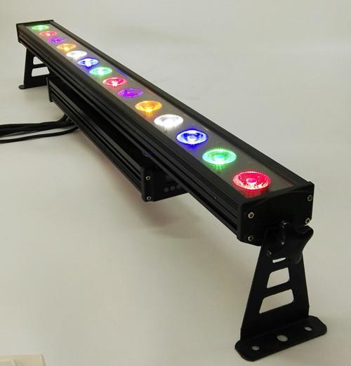 DMX512 outdoor IP65 14 * 15 w rgbwauv 6 in 1 Led Wall Washer luce led bar luce della fase di costruzione gardon città colore effetto luce